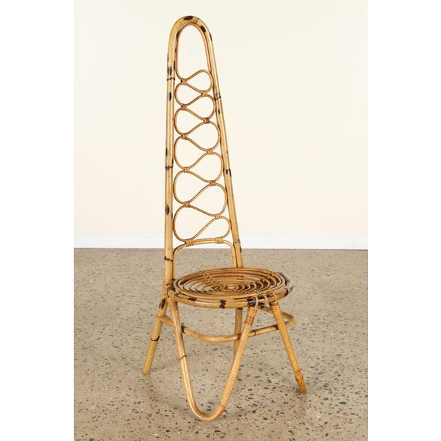 Early 20th Century Italian Rattan Chair For Sale - Image 5 of 5