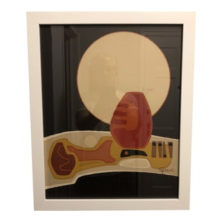 Mid-Century Modern Abstract Signed Lithograph For Sale