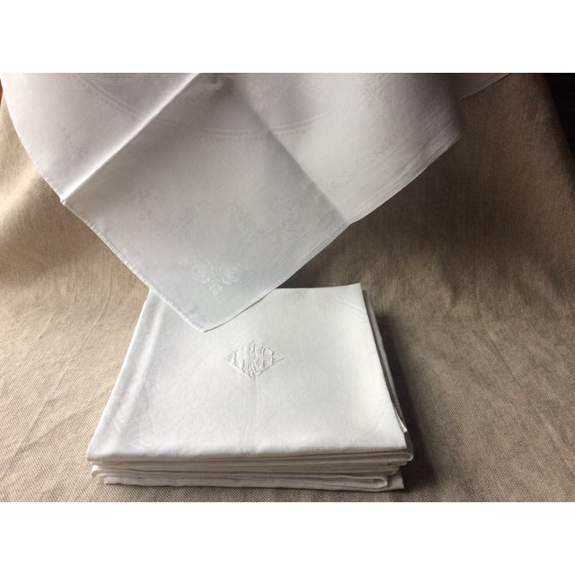 White 1900s French Linen Napkins - Set of 10 For Sale - Image 8 of 13