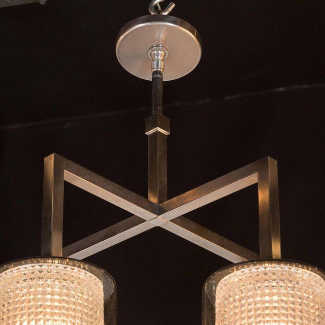 Mid-Century Modern Scandinavian Mid-Century Modern Four-Arm Chandelier, Carl Fagerlund for Orrefors For Sale - Image 3 of 11