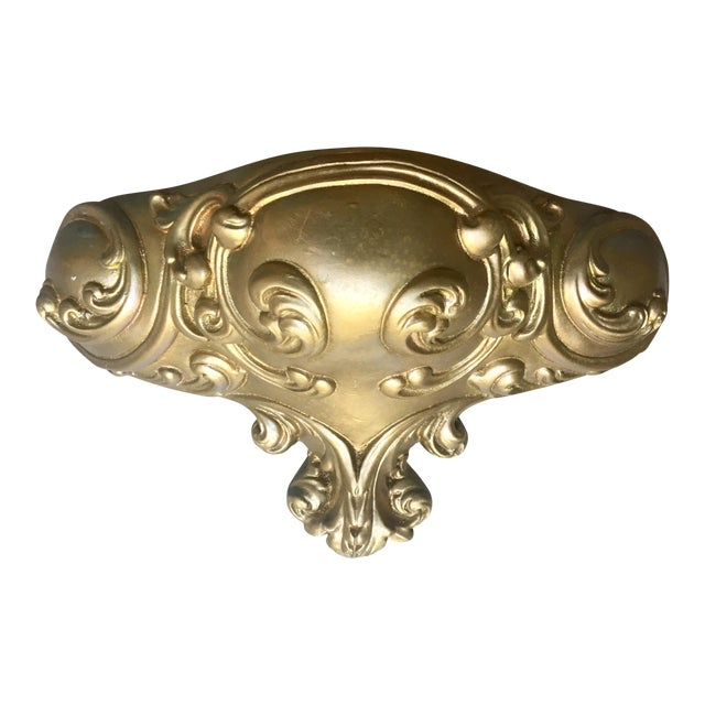 Heavy Chalkware Sconce, Wall Pocket - Image 1 of 5