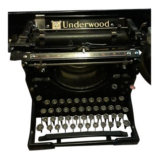 Antique Underwood No 5 Standard Typewriter With Cover