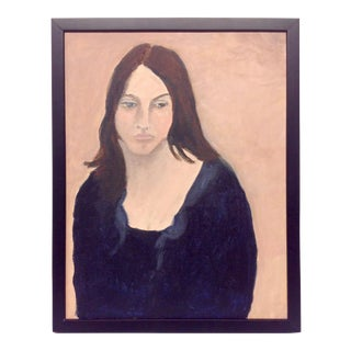 Final Markdown - Betty Warren Expressionist Oil Portrait on Canvas For Sale