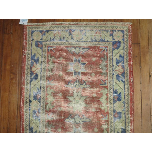 Distressed Turkish Oushak Runner Rug - 2'5'' x 10'9'' - Image 6 of 8