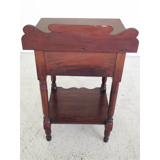 Antique Century Sheraton Style 1 Drawer Work Table Washstand For Sale - Image 12 of 13