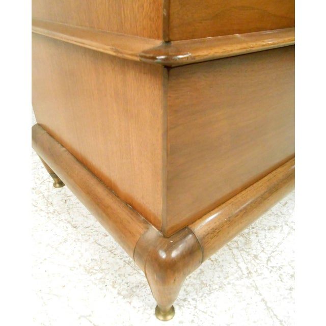 "Gold Kent Coffey Mid-Century Modern ""The Appointment"" Highboy Dresser For Sale - Image 8 of 8"
