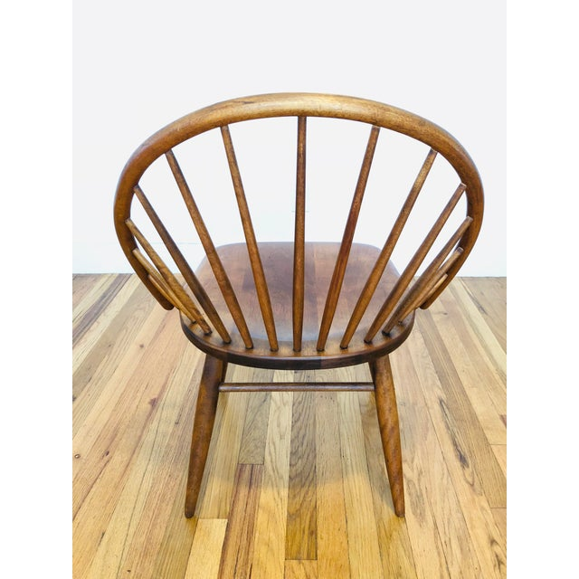 Vintage Mid Century Russel Wright for Conant Ball Windsor Style Maple Chairs- A Pair For Sale In Boston - Image 6 of 10