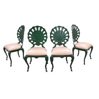 "1950s Vintage Venman Furniture Aluminum ""Grotto"" Shell Chairs - a Set of 4 For Sale"