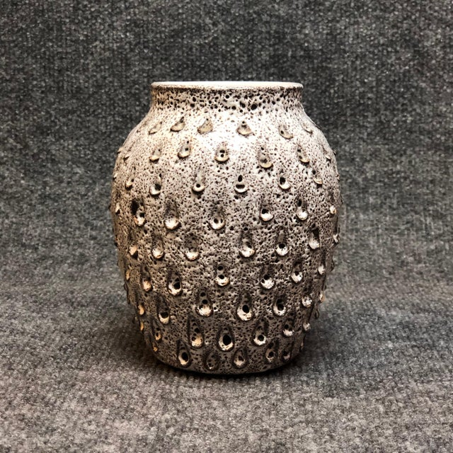 Very unusual mid century Italian vase with dimpled surface.