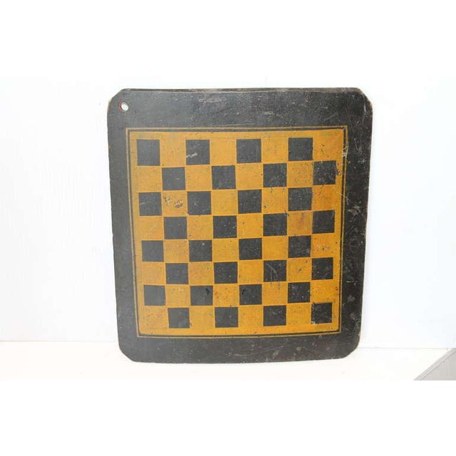 19th Century Original Painted Checkers Game Board - Image 6 of 6