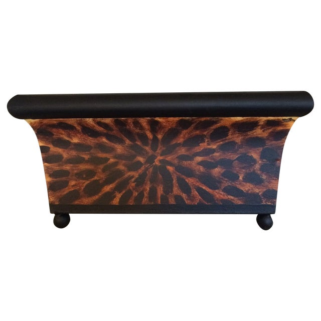 Painted Tole Tortoise Planter - Image 1 of 3