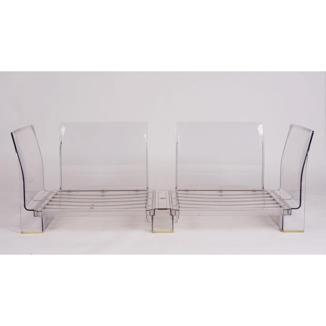 Kartell Pair of Lucite Love Seats/ Sofas by Piero Lissoni for Kartell For Sale - Image 4 of 13