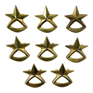 Vintage Star Cabinet Drawer Pulls Knobs - Set of 8 For Sale