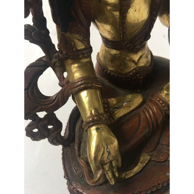 Buddhist Tara Goddess Of Cast Brass For Sale - Image 9 of 11