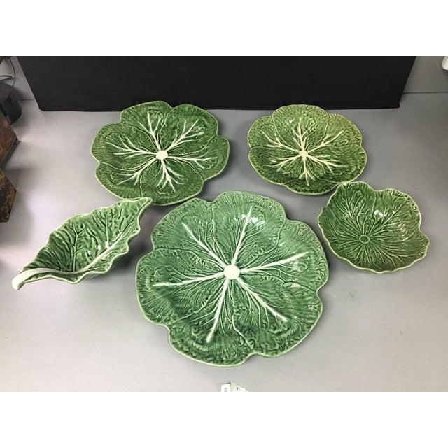 5 Vintage Pieces of Bordallo Pinheiro Cabbage Design For Sale - Image 9 of 9