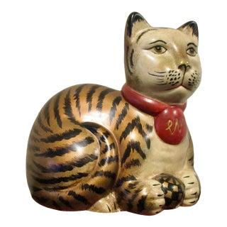 Raymond Waites Ceramic Cat Figurine For Sale