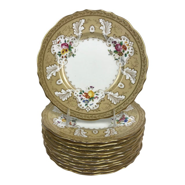 """Cauldon England for Tiffany New York 9"""" Dinner/Luncheon Plates - Set of 12 For Sale"""