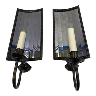 1990s Vaughan Mirrored Back Sconces - a Pair For Sale