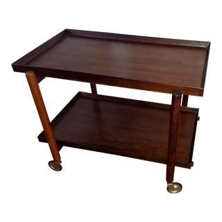 Poul Hundevad Rosewood Bar Cart For Sale