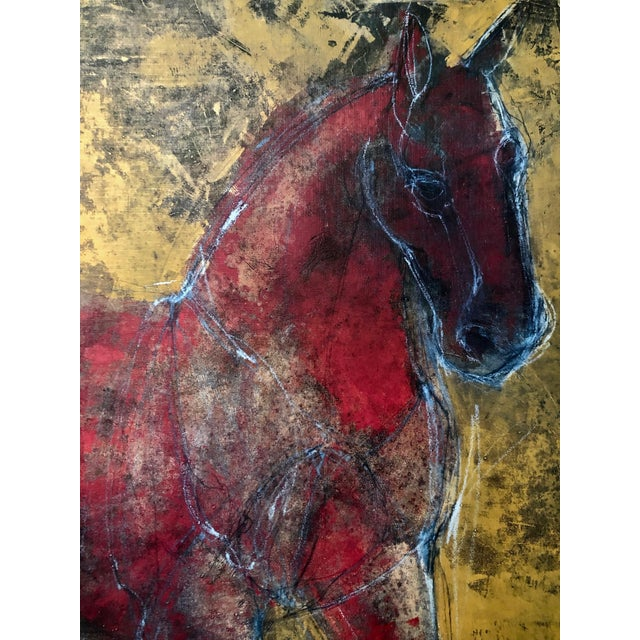 Figurative Reverse-Color Framed Hearting Horses Prints - a Pair For Sale In Sacramento - Image 6 of 12