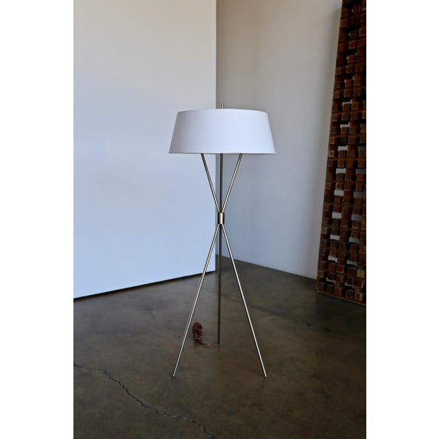 "t.h. Robsjohn Gibbings ""Tripod"" Floor Lamps - a Pair For Sale In Los Angeles - Image 6 of 13"