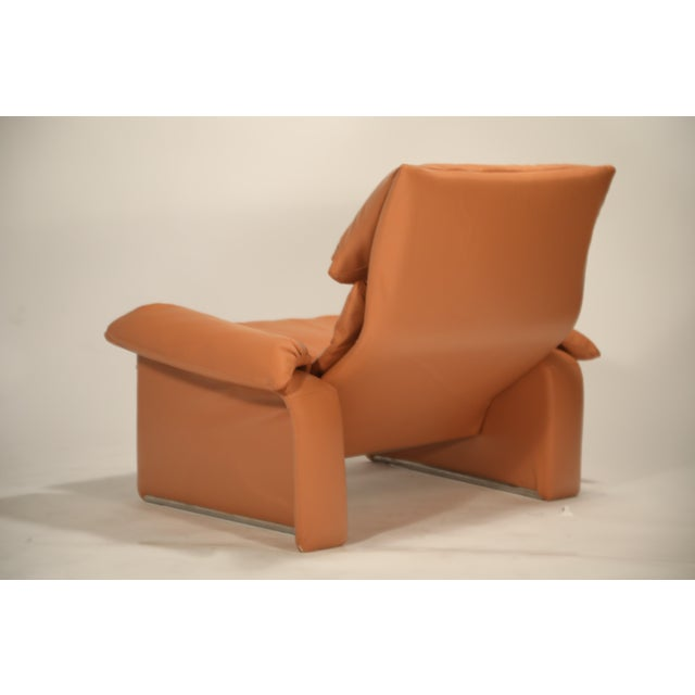1970s 1970s Vintage Giovanni Offredi for Saporiti Lounge Chair and Ottoman For Sale - Image 5 of 13