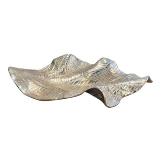 Contemporary Silver Leaf Sculpture For Sale
