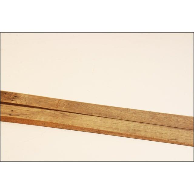 Vintage Rustic Wood Snow Skis - Pair - Image 5 of 11