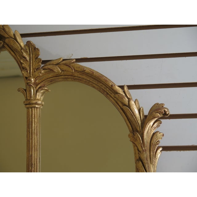 1990s Labarge Gold Gilt Mantle or Sideboard Horizontal Mirror For Sale - Image 11 of 12