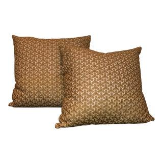 Geometric Print Pillows - a Pair For Sale