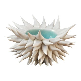 Copper Blue Micro Urchin Bowl For Sale