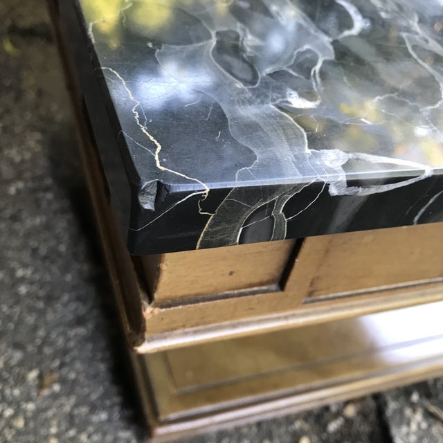 Art Deco Walnut and Marble Coffee Table For Sale - Image 10 of 12