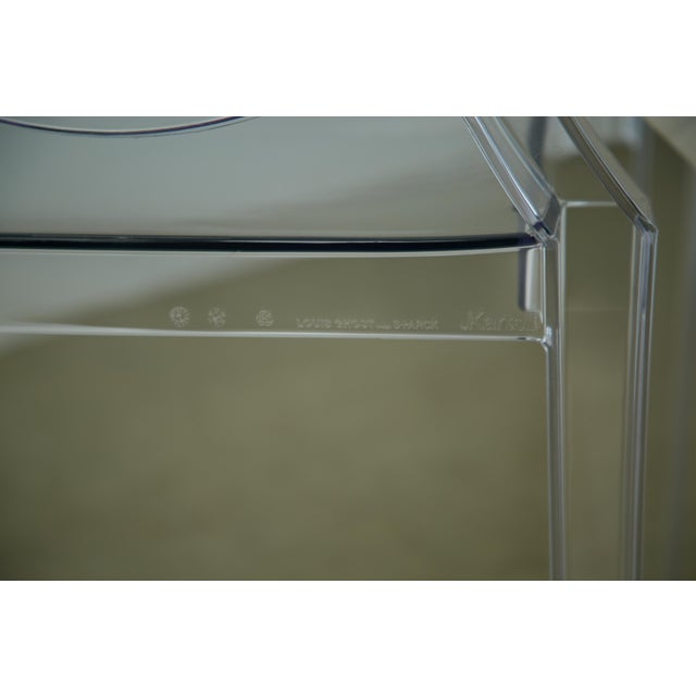 Acrylic Louis XVI Ghost Chairs by Philippe Starck for Kartell, Unused With Original Tags, 12 Available For Sale - Image 7 of 10