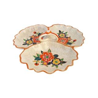 1940s Orange Floral Serving Plate
