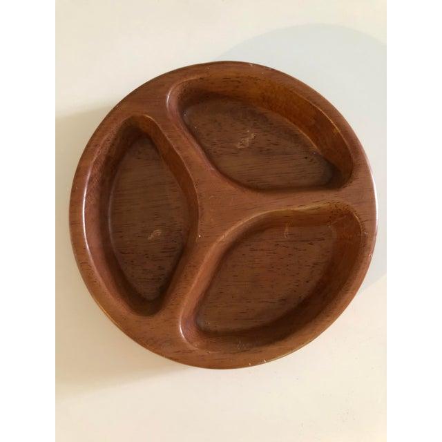 Dansk Vintage Danish Dansk Mid-Century Contoured Serving Tray Bowl For Sale - Image 4 of 4