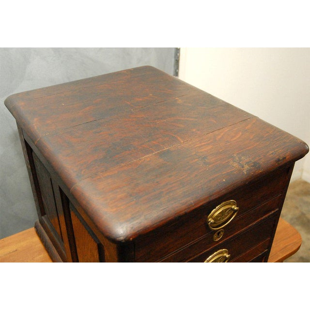 Late 19th Century Desk Top File Cabinet For Sale - Image 9 of 9
