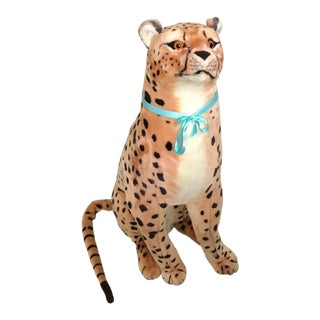 Lifesize Sitting Wildlife Cheetah Soft Animal For Sale