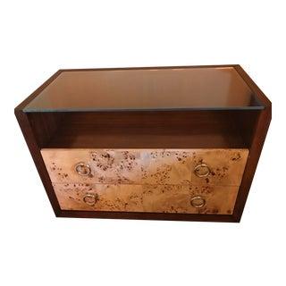 Lexington Burl Wood Panel Nightstand For Sale