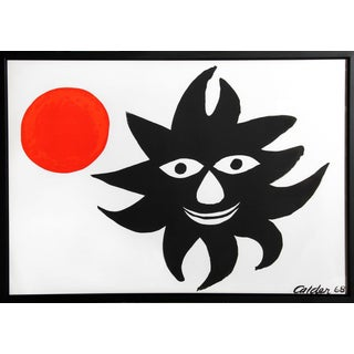 """Alexander Calder """"Red Sun"""" Lithograph"""