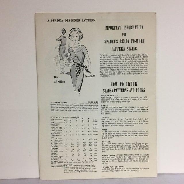 "Mid-Century Modern Spadea ""Dinah Shore's Wonder Wardrobe"" Vintage Dress Pattern For Sale - Image 3 of 9"