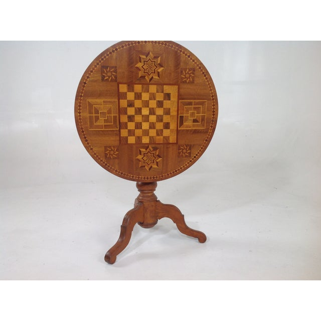 Antique Dutch Marquetry Tea Table - Image 8 of 8