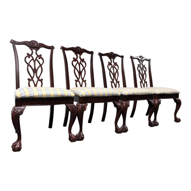 Lexington Chippendale Mahogany Ball Claw Dining Chairs- Set of 4 - Image 1 of 11