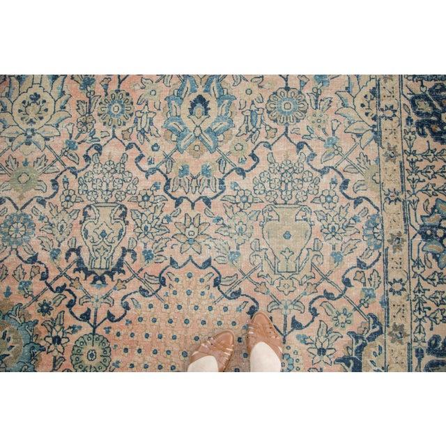 "Islamic Vintage Kashan Carpet - 10'1"" X 14'2"" For Sale - Image 3 of 11"