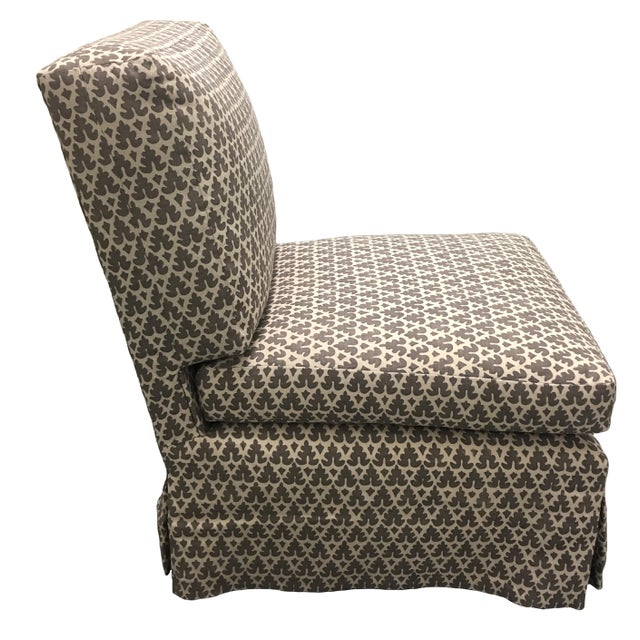 Donghia Donghia Billy Baldwin Style Quadrille Upholstered Slipper Chairs - a Pair For Sale - Image 4 of 8