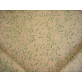 Boho Chic Lee Jofa Mulberry House Coffee Sack Green Floral Upholstery Fabric - 10y For Sale