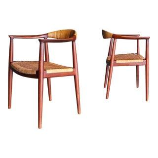 "Hans Wegner "" the Chair "" for Johannes Hansen Circa 1955 - a Pair For Sale"