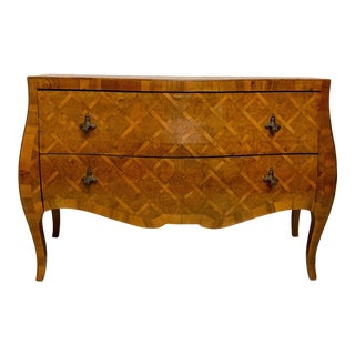 Italian Walnut Serpentine Commode For Sale