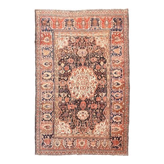 Antique Red Bakhtiari Persian Area Rug For Sale