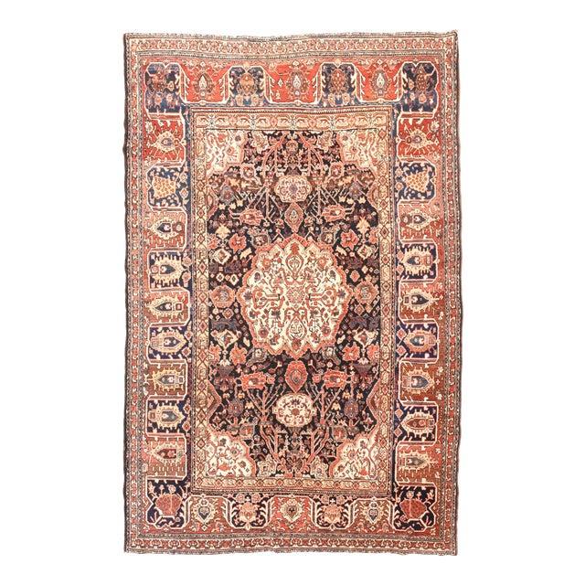 Antique Red Bakhtiari Persian Area Rug For Sale