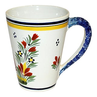 Henriot Quimper Faience Coffee Mug For Sale